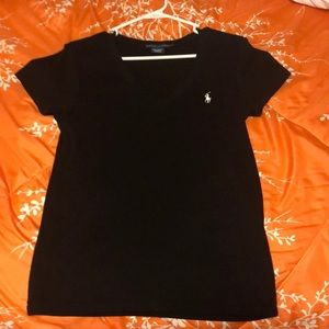 Ralph Lauren polo black v neck tee
